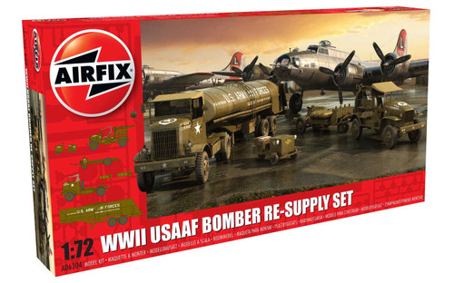 A06304 1/72 WWII USAAF BOMBER RE-SUPPLY SET PLASTIC KIT