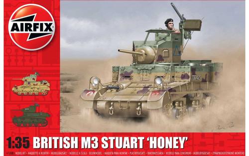 A1358 1/35 BRITISH M3 STUART HONEY PLASTIC KIT