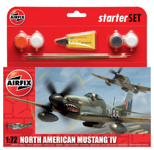 A55107 1/72 NORTH AMERICAN MUSTANG IV STARTER PLASTIC KIT