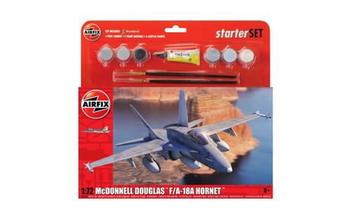 A55313 1/72 MCDONNELL DOUGLAS F/A-18 HORNET STARTER SET PLASTIC KIT