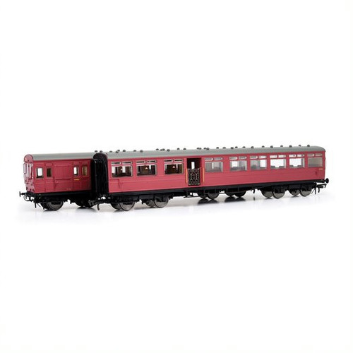 E86001 OO S2624S/S739S EX LSWR 2 CAR GATE STOCK BR CRIMSON