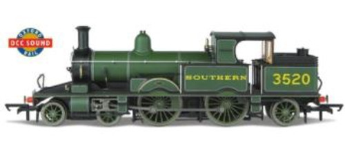 OR76AR006XS OO 3520 ADAMS RADIAL 4-4-2T MAUNSELL GREEN DIGITAL SOUND