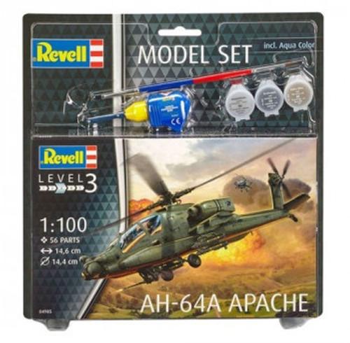 R64985 1/100 AH-64A APACHE MODEL SET PLASTIC KIT