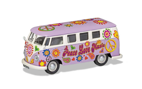 CC02730 1/43 VW CAMPERVAN PEACE LOVE AND MUSIC