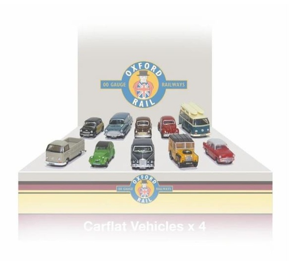 148CPK002 N CARFLAT CAR PACK 1970'S CARS (4)