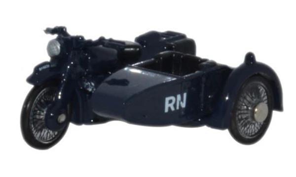76BSA007 OO MOTORBIKE/SIDECAR ROYAL NAVY