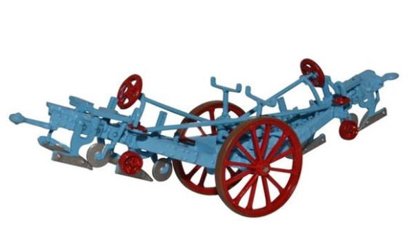 76PL001 OO FOWLER PLOUGH BLUE/RED