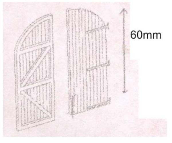 DPB23 OO SHED DOORS
