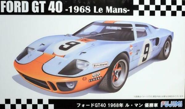 F126050 1/24 FORD GT40 68 LE MANS PLASTIC KIT