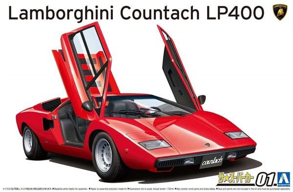 A05804 1/24 LAMBORGINI CONTACH LP PLASTIC KIT