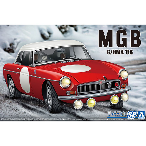 A06126 1/24 MGB CLUB RALLY 66 PLASTIC KIT