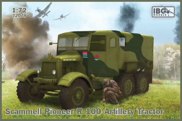 IBG72078 1/72 SCAMMELL PIONEER R100 ARTILLERY TRACTOR PLASTIC KIT