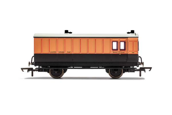 R40064 OO 140 4W BRAKE/BAGGAGE LSWR SALMON PINK/BROWN