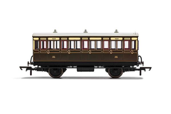 R40066 OO 1889 4W 3RD CLASS GWR CHOCOLATE/CREAM