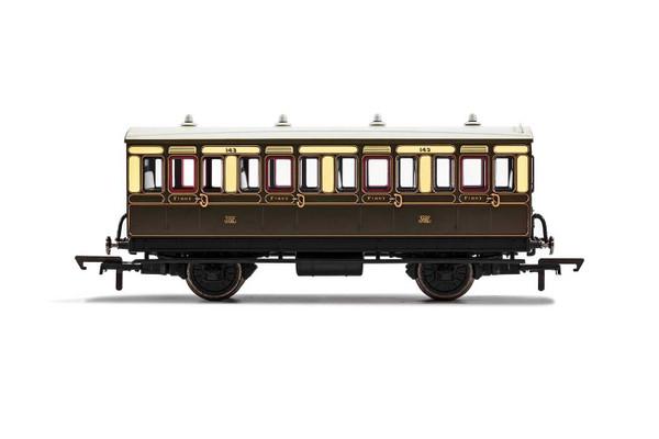 R40065 OO 143 4W 1ST CLASS GWR CHOCOLATE/CREAM