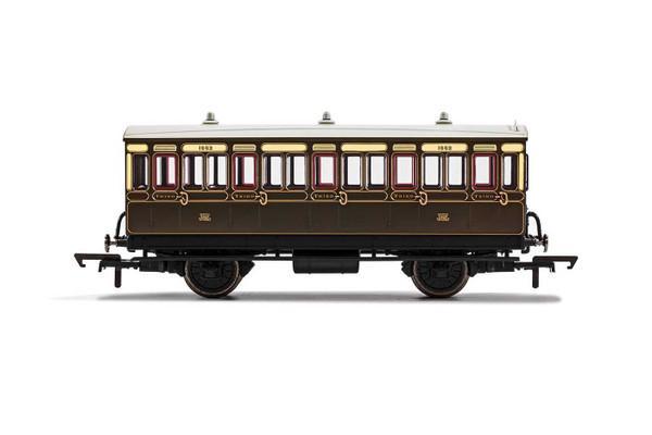 R40066A OO 1882 4W 3RD CLASS GWR CHOCOLATE/CREAM