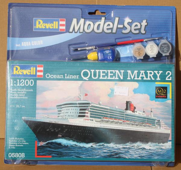 R65808 1/1200 QUEEN MARY 2 MODEL SET PLASTIC KIT