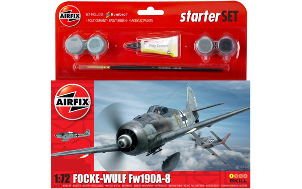 A55110 1/72 FOCKE-WULF FW190A-8 STARTER PLASTIC KIT