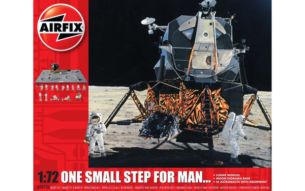 A50106 1/72 MOON LANDER ONE SMALL STEP FOR MANKIND PLASTIC KIT