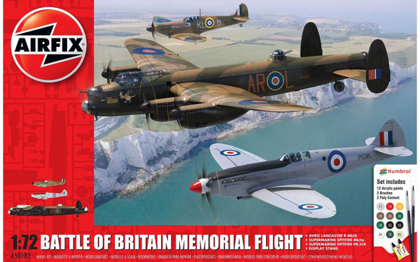 A50182 1/72 BATTLE OF BRITAIN MEMORIAL FLIGHT GIFT SET PLASTIC KIT