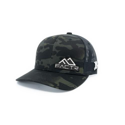 FACTR Trucker Hat - Black Leather Patch