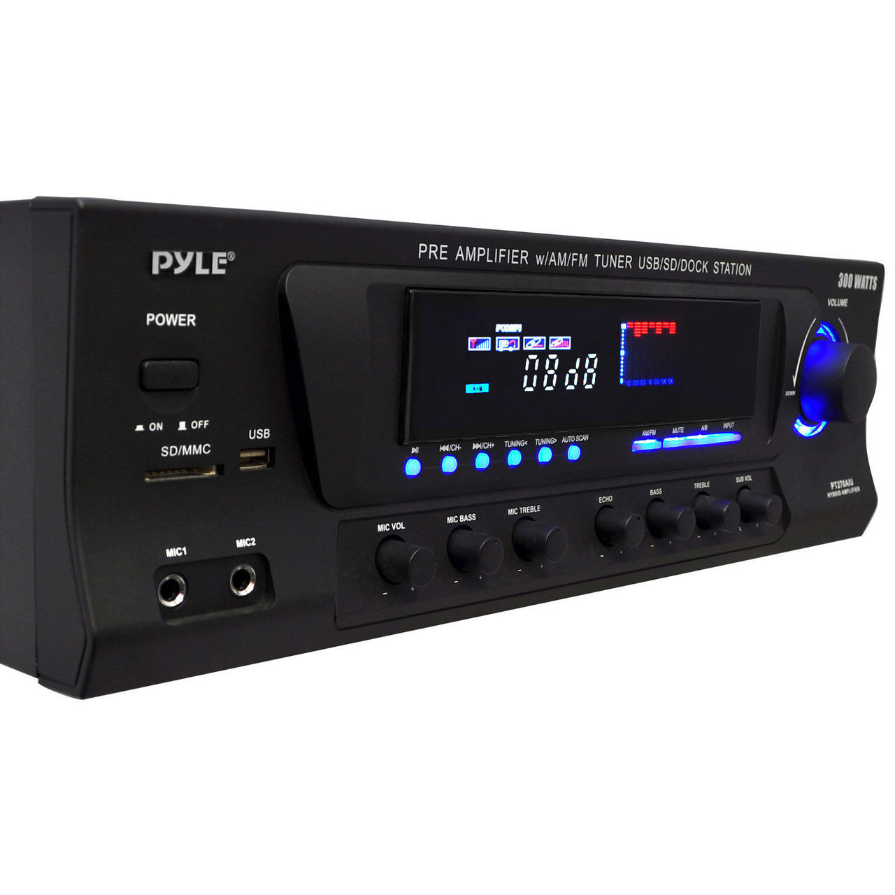 Home Theater 300W Stereo Receiver W/ iPod Dock