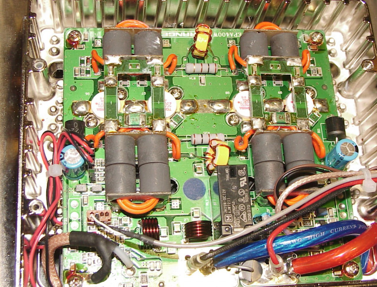 DX98vhp with new amp board  Transistors 2sc2879 4pill