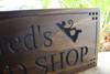 wood shop sign