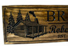 cabin wooden sign