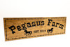 Pegasus Horse Farm Sign