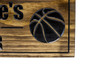 Man Cave/Sports Sign with basketball and football