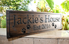 Family Sign with dog paw prints