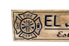 Firefighter sign with Maltese cross