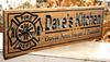Firefighter kitchen Sign