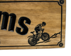 Mountain biker  Sign | bicycle sign (CWD-258)