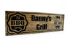 wooden bbq grill sign