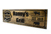 custom bbq grill sign for your patio