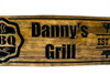 grill sign with custom name