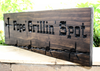 Farm-Ranch Sign | Outdoor Grill area sign with nail cross