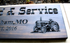 Farm-Ranch Sign with tractor and corn husk