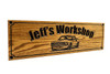 Garage / Man cave  OAK Sign with 69 Ford Mustang