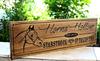 Horse Farm/Ranch Sign