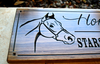 horse farm sign in wood