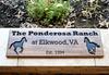 custom wooden horse farm sign