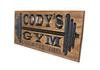 garage gym sign