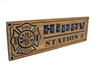 Firefighter memorial plaques, firefighter retirement gift, wooden custom firefighter sign