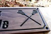 lacrosse sticks wooden sign