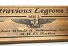 Air warfare emblem in wood