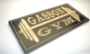 personalized wooden gym sign