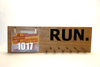Marathon Medal display 11 PEGS and bib holder clips- running medals and race bibs holder - running medals and race bibs hanger - Marathon